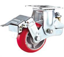 西安韩式铁芯PU减震脚轮厂家直销