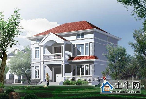 农村二层带阁楼自建房屋设计图纸-别墅户型图