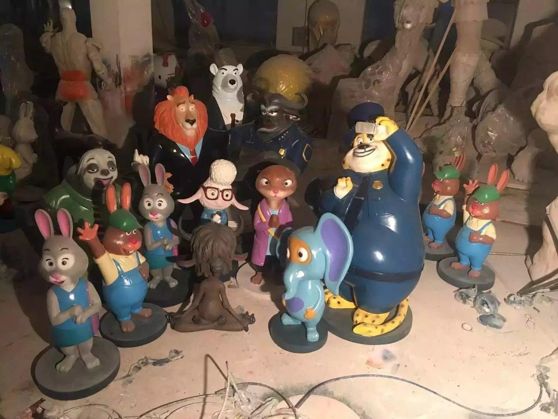 【精品卡通人物模型展览出租多种疯狂动物城人物模型