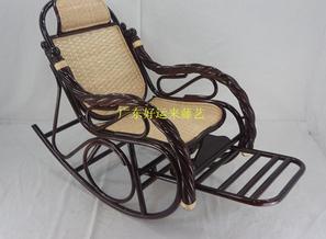 藤椅休闲椅分色平背摇椅酒店餐厅桌椅家具定做
