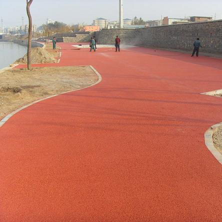彩色透水混凝土海绵城市路面材料