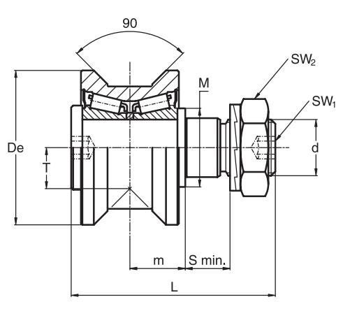 常州RKU95供应厂家直销RKUR95偏心圆锥滚轮 轨道滚轮轴承