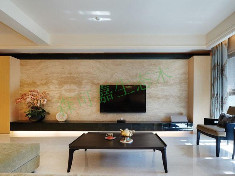 中山塑木厂家直销緑可木电视3D生态木背景墙板防腐木