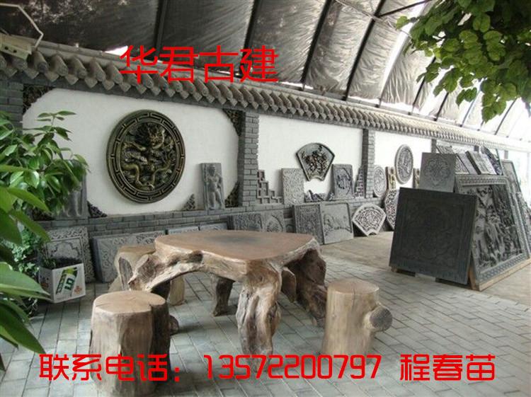 云南丽江仿古砖雕 青砖做旧门头装饰 镇宅狮子砖雕