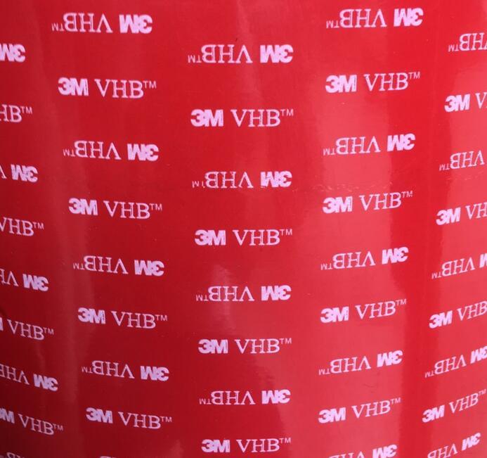 3M5608红色膜灰色VHB亚克力双面胶带