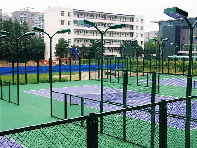 环保硅PU球场、围网、灯光设计施工工程
