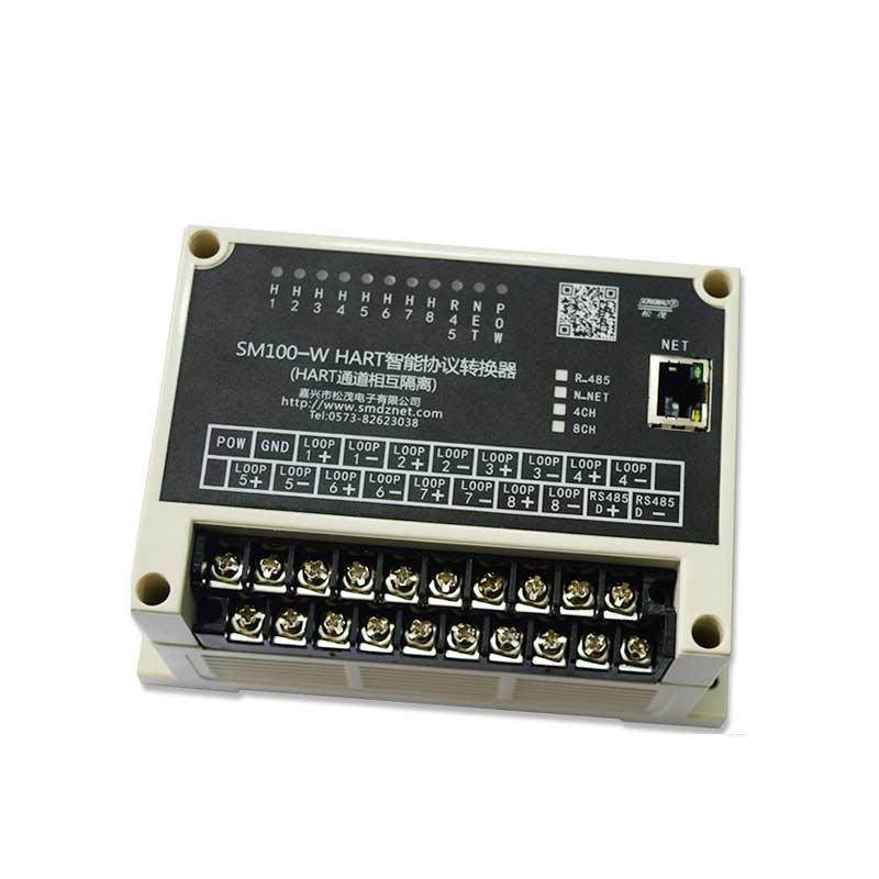 工业级8通道HART转RS485协议通道全隔离转换器