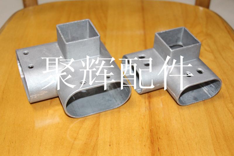 聚辉护栏配件厂家供应阳台护栏配件直角三通 面管与面管连接件