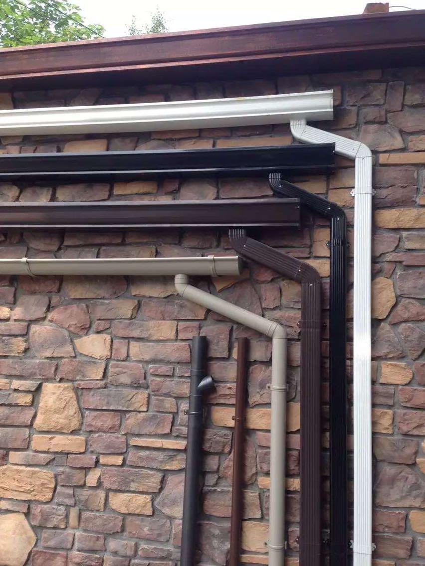 常州市铝合金屋面集成排水沟金属檐槽彩色成品天沟定制