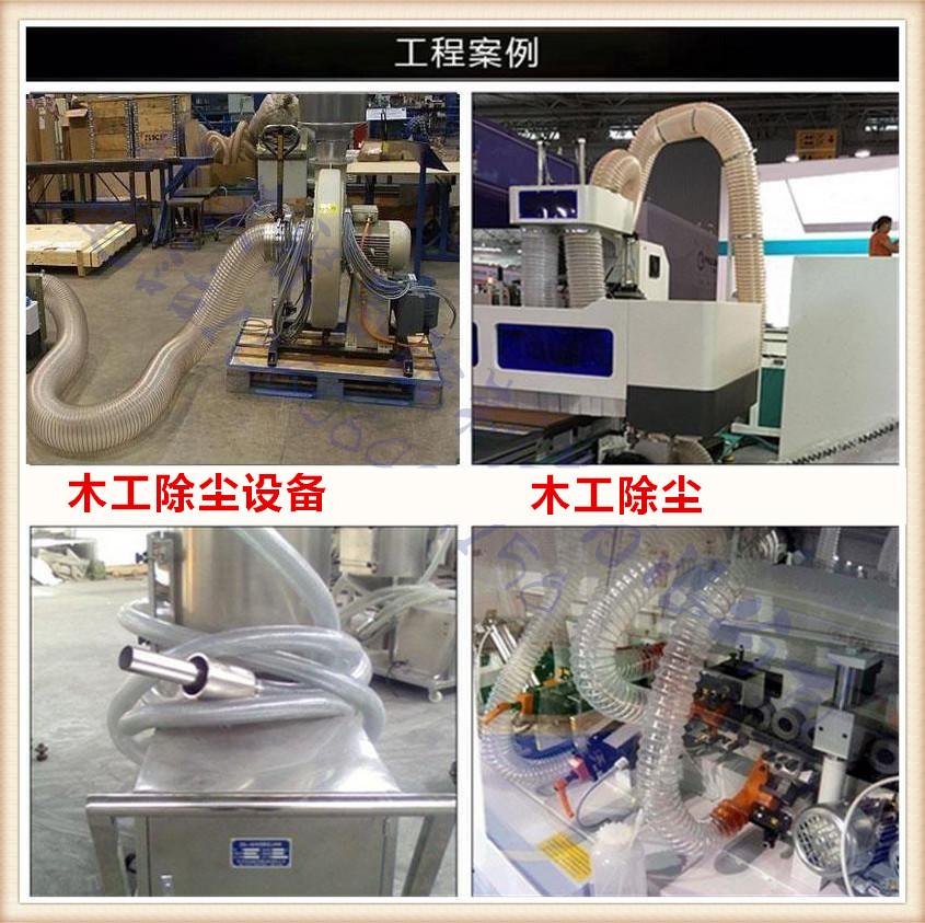 各种尺寸聚氨酯波纹管,PU耐磨伸缩软管,PU透明钢丝