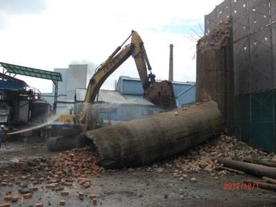 胶南市45米砖烟囱拆除公司企业优