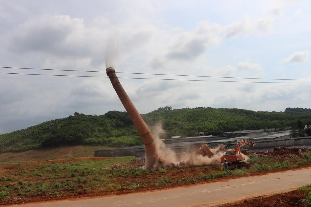 阳春锅炉房烟筒裂缝拆除公司勇于创新