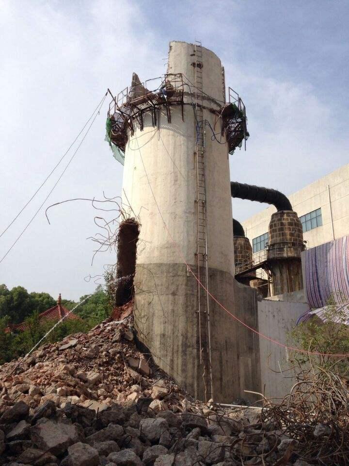 临江市砖烟囱拆除公司挑战佳绩