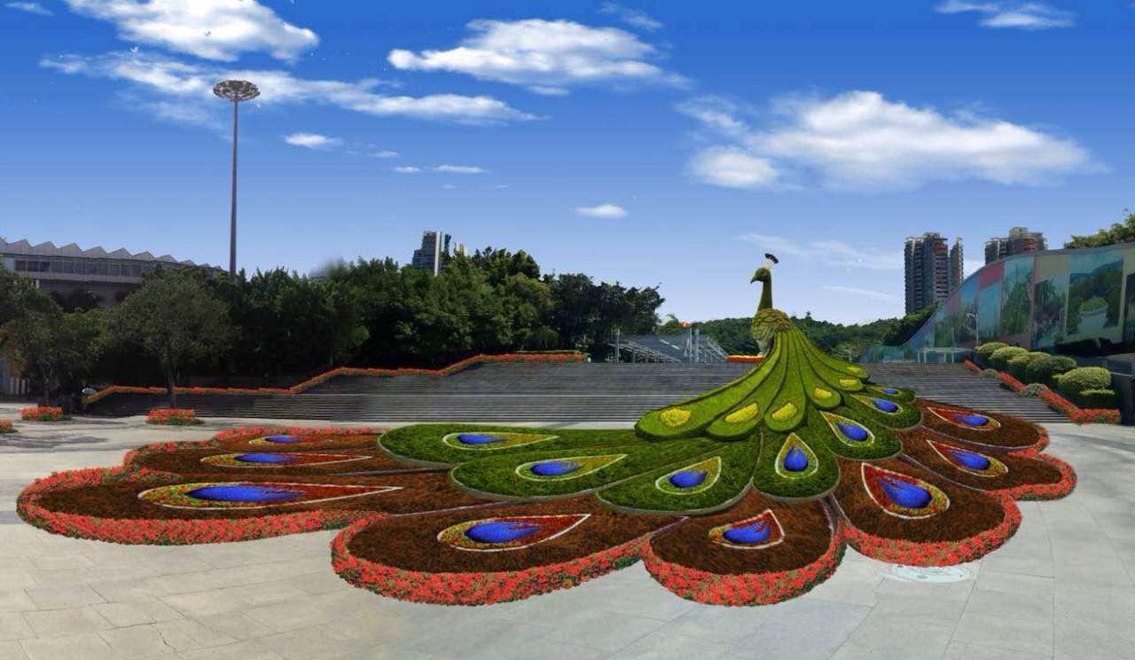 知名立体绿雕厂家植物造型景观设计