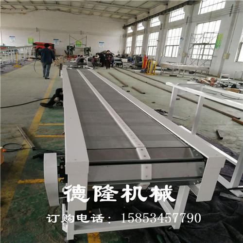德隆直销不锈钢平顶输送线冲孔链板爬坡提升机可定制